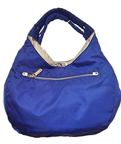 Borbonese , Sac pour femme à porter à l'épaule multicolore bluette e sabbia