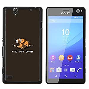 """Be-Star Único Patrón Plástico Duro Fundas Cover Cubre Hard Case Cover Para Sony Xperia C4 E5303 E5306 E5353 ( ¿Necesitas más café Ardilla - Gracioso"""" )"""