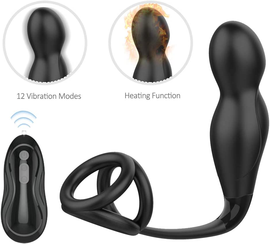 Male Prǒstate Massager Automatic Heating an-us Stopper Slient Ań-ál Bū-tt Plugs for Back Neck Shoulder Relaxing Deep Tissue Massage Multiple Vibration Speed and Patterns Tshirt
