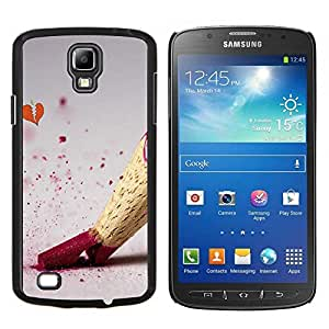 For Samsung Galaxy S4 Active i9295 Case , Disegno matita di colore - Diseño Patrón Teléfono Caso Cubierta Case Bumper Duro Protección Case Cover Funda