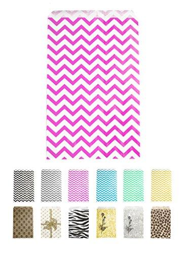 Novel Box Pink Chevron Print Paper Gift Candy Jewelry Merchandise Bag Bundle 6X9