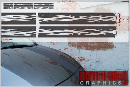 Racing Stripes (Classic Car Graphic ) - Chrome