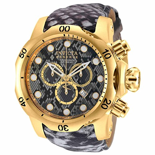 Invicta Venom Grey With Pattern Dial Mens Chronograph Watch 18301