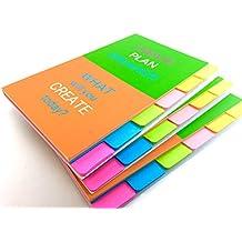 ROXSTAR STUDIO Sticky Notes 4 x 6 Ruled Tabbed Sticky Notebook 66 Sheets -3 Pack Notebook 198 Sheets