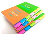 ROXSTAR Sticky Notes 4x6 Ruled Sticky Tabs Notebook 3-Pads x 66-Sheets Deal (Small Image)