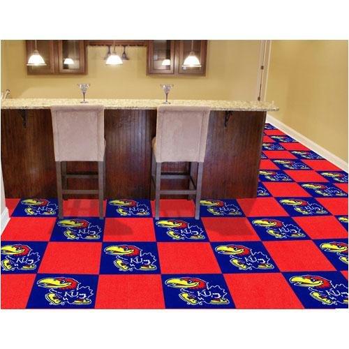 Kansas Jayhawks NCAA Team Logo Carpet Tiles by Fanmats