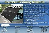 Black RV Awning Shade Net Complete Kit 12 x 20 RV Awning ...