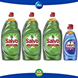 Salvo lavatrastes líquido concentrado limón 4.2 L + Salvo Power Clean 300 ml