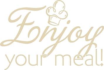 Grazdesign 620606 50 082 Wandtattoo Kuchen Spruch Enjoy Your Meal