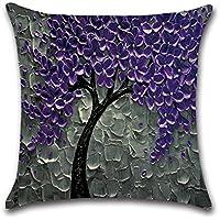 FLORICA Throw Pillow Case Cushion Cover Oil Landscape Painting Cotton Linen Home Decorative Sofa Cushion Case 18 * 18 Inch