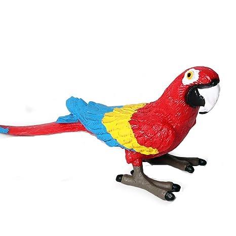 Juguetes Set Guacamayos Rojos Flormon Realista Pájaros Figuras De TXOPukZi