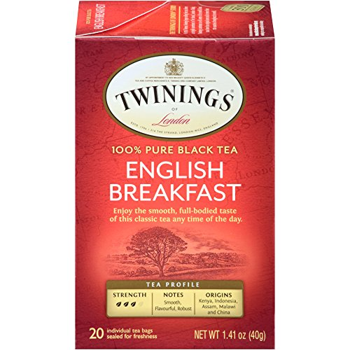 - Twinings of London English Breakfast Tea, 20 Count (Pack of 6)