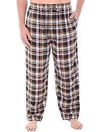 Del Rossa Men's Flannel Pajama Pants, Long Cotton Pj Bottoms