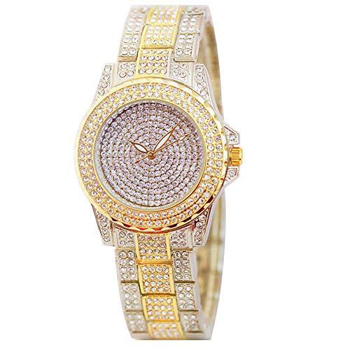 Smalody Luxury Women Watch Crystal Rhinestone Diamond Watches Ladies Dress Stainless Steel Wristwatch (Mix) ()