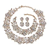 Best Happy Hours Wedding Ring Sets - Holylove Chunky Crystal Necklace for Women Fashion Necklace Review