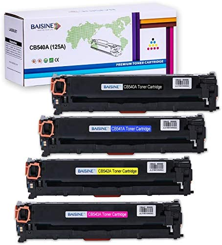 ZIXUAA High Performance for CB540A Color Toner Cartridge CM1300 Black 2200 Pages Color 1400 pages-4colors Compatible with HPLaserJet CP1215 CP1218 CP1515n CP1518ni C Printer
