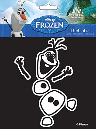 Chroma 40015 White Olaf Dancing Die Cutz Decal Die Cutz Car Decal