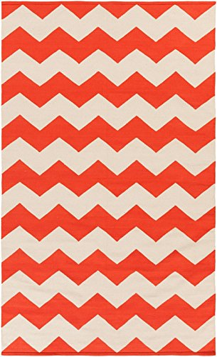 Artistic Weavers Contemporary Rectangle Area Rug 9'x12' Coral-White Vogue Collins Collection