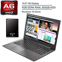 2020 Lenovo Ideapad 130 15 15.6″ Laptop Computer, AMD A6-9225 up to 3.0GHz (Beats i3-7020U), 4GB DDR4 RAM, 500GB HDD, DVDRW, 802.11AC WiFi, Bluetooth, HDMI, Windows 10 + EST 500GB External Hard Drive