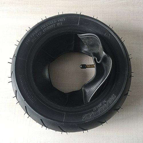 Front Tubeless Tire 90/65-6.5 with Inner Tube fits 49cc Mini Dirt Bike e Scooter Mini Moto