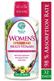 Women's Premium Liquid Multivitamin, Superfood, Herbal Blend - Anti-Aging Liquid Multivitamin for Women. 100+ Ingredients Promote Heart Health, Brain Health, Bone Health -1mo Supply