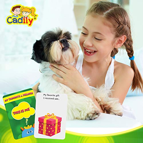 Cadily This is Me: Sentence Completion Therapy Games   Used As Social Skills Games   Counseling Games   School Games   Play Therapy Toys for Parents & Professionals to Teach Kids to Express Feelings