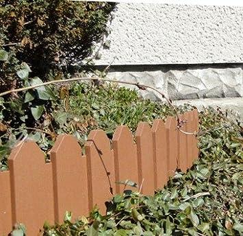 Woolux Garden - Empalizada para jardines (2, 4 m), color marrón ...