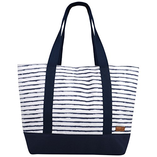 and Tote Beach Blue cm Bag Canvas 55 Navy Urban Hanalei twqavtO