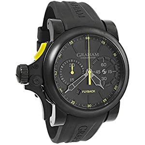 Graham Chronofighter Black Dial Black Rubber Automatic Mens Watch 2TRABB11A