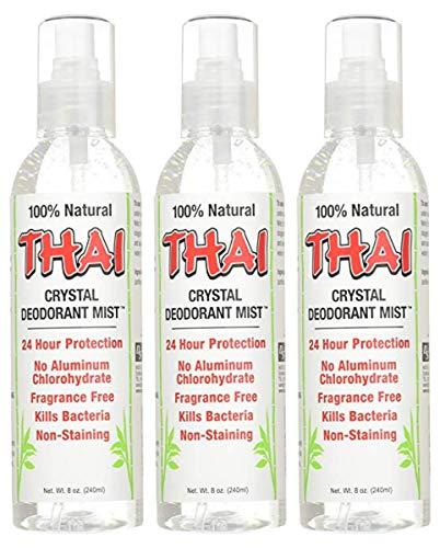 (Thai Deodorant Stone Crystal Mist Natural Deodorant Spray 8 oz. Bundle (Pack Of 3))