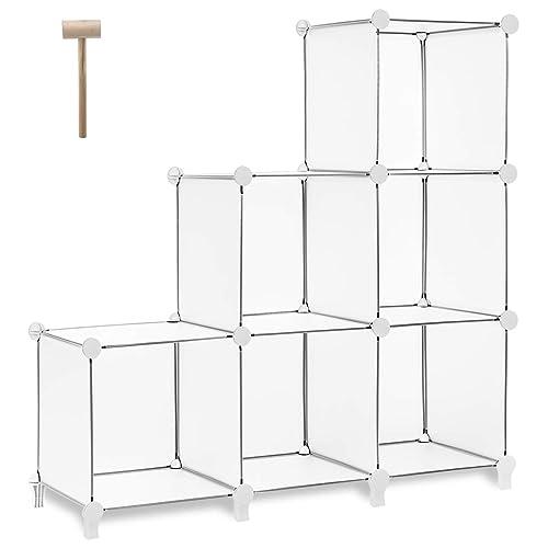 TomCare Cube Storage 6 Bookshelf Closet Organizer Shelves Shelf Cubes Plastic Square