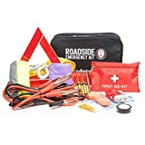 Roadside Assistance Car Emergency Kit - First Aid Kit, Jumper Cables, Tow Rope