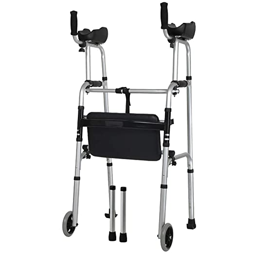 Andadores para discapacidad Walker de Doble Brazo Ligero Plegable ...