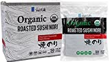 Jayone Organic Premium Sushi Nori Seaweed, 50 Sheets, 3.8 Ounce (Pack of 6)