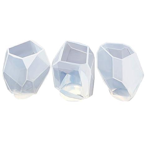 3 UNIDS Estilo Diferente Forma de Piedra Moldes de Resina de Silicona para Llaveros Pendientes Collares