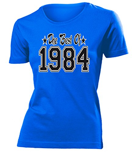 THE BEST OF 1984 - DELUXE - Birthday mujer camiseta Tamaño S to XXL varios colores Azul