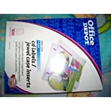 Office Depot(R) CD Labels & Jewel Case Inserts, 8 1/2in. x 11in., Pack Of 100 by Office Depot