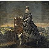 Canvas Prints Of Oil Painting 'Velazquez Diego Rodriguez De Silva Y (and Other) La Reina Margarita De Austria A Caballo 1628 35' 8 x 8 inch / 20 x 21 cm , Polyster Canvas, Bed Room, Home Of decoration
