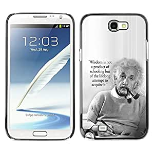 Impact Case Cover with Art Pattern Designs FOR Samsung Note 2 N7100 Einstein Albert Science Quote Smart Man Betty shop