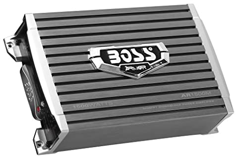 BOSS Audio AR1500M Armor 1500 Watt, 2/4 Ohm Stable Class A/B, Monoblock, Mosfet Car Amplifier with Remote Subwoofer - 1991 Chrysler New Yorker