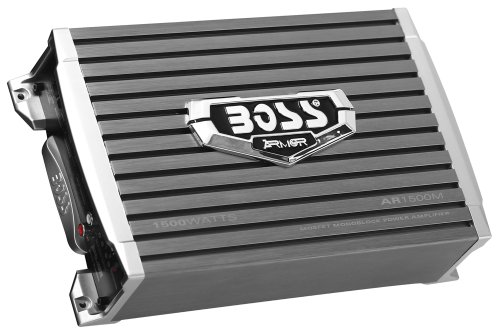 BOSS Audio AR1500M Armor 1500 Watt, 2/4 Ohm Stable Class A/B, Monoblock, Mosfet Car Amplifier with Remote Subwoofer Control