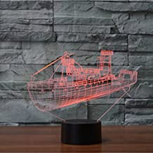 3D Ferry Night Light Lamp 7 Color Change LED Touch USB Table Gift Kids Toys Decor Decorations Christmas Valentines Giftbirthday gift