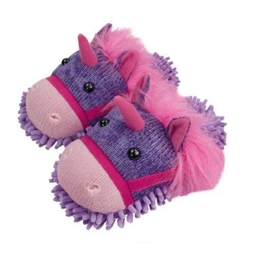 Fuzzy Friends Womens Unicorn Flat Purple ssNTbycT