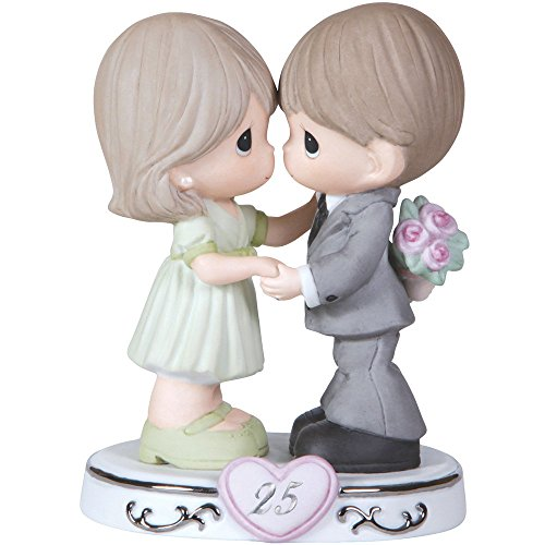 (Precious Moments,  Through The Years - 25th Anniversary, Bisque Porcelain Figurine, 123020)