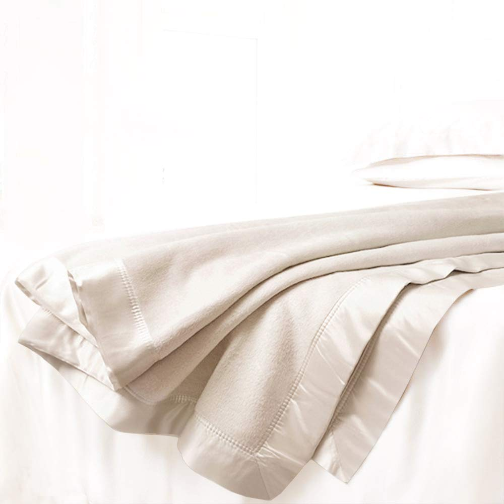 ElleSilk Luxus Wohndecke aus Maulbeerseide, Seide Heimdecke, Premium-Qualität, wunderbar weich, Elfenbeinfarben, Queen Größe (180 x 220cm)