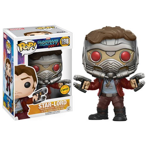 Funko POP! GotG Vol. 2 Star-Lord with Helmet Chase Variant Vinyl Bobble Head