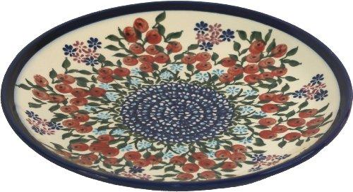 (Polish Pottery Ceramika Boleslawiec 1102/282 Royal Blue Patterns Dessert Plate, 7-1/2-Inch, Red Berries and)