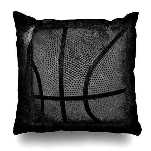 - Ahawoso Throw Pillow Cover Pillowcase Ball Action Basketball Abstract Activity Realistic American Basket Bounce Design Home Decor Square 16x16 Zipper Cushion Case