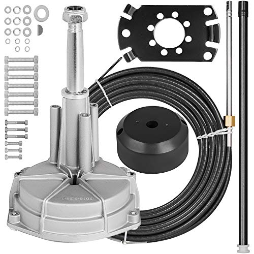 Mophorn SS13712 Safe-T Quick Connect Rotary Steering Kit Marine 17Ft