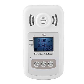 Akozon PT603A Detector portátil de formaldehído Medidor Probador de calidad del aire interior Exactitud Pruebas de